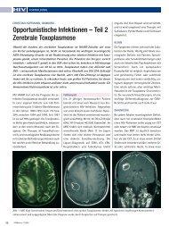 Opportunistische Infektionen – Teil 2 Zerebrale ... - HIV & More