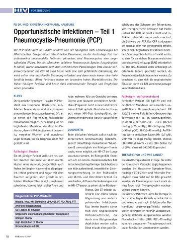 Opportunistische Infektionen – Teil 1 Pneumocystis ... - HIV & More