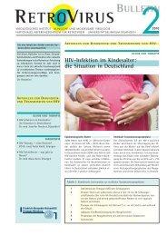 HIV-Infektion im Kindesalter: die Situation in Deutschland - GfV