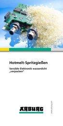 Prospekt: Hotmelt-Spritzgießen - Arburg