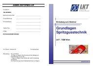Grundlagen Spritzgusstechnik (pdf, 139 kB) - Plasticker