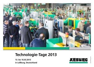 Technologie-Tage 2013 - Arburg