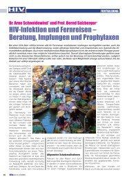HIV-Infektion und Fernreisen – Beratung, Impfungen ... - HIV & More