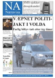 VÆPNET POLITI- JAKT I VOLDA - Høgskulen i Volda
