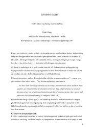 Om omgrepet kvalitet i skulen - Høgskulen i Volda