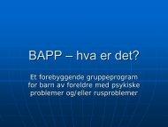 BAP-tiltaket: Eit førebyggande tiltak i Rauma og Molde