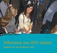 Vegvisar til nye studentar 2008 - Høgskulen i Volda