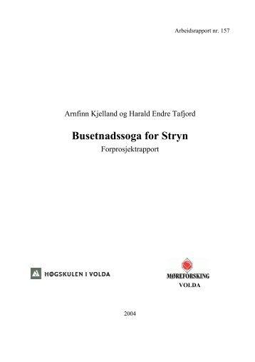 Busetnadssoga for Stryn - Høgskulen i Volda