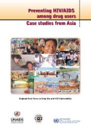 Preventing HIV/AIDS among Drug Users: Case Studies ... - 7 Sisters