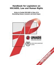 Handbook for Legislators on HIV/AIDS, Law and Human Rights