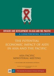 The Potential Economic Impact of AIDS in Asia and ... - hivpolicy.org