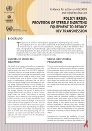 Provision of Sterile Injecting Equipment to - World Health Organization