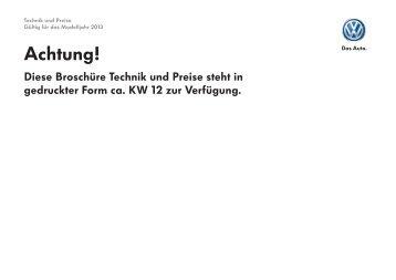 Preisliste Golf GTD (Technik und Preise) MJ2013 070313.indd