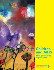 Children and AIDS: Third Stocktaking Report, 2008 - Unicef