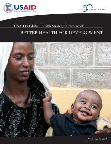 USAID's Global Health Strategic Framework - Southern Africa HIV ...