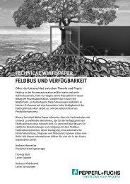 technical white paper feldbus und verfügbarkeit - Pepperl+Fuchs