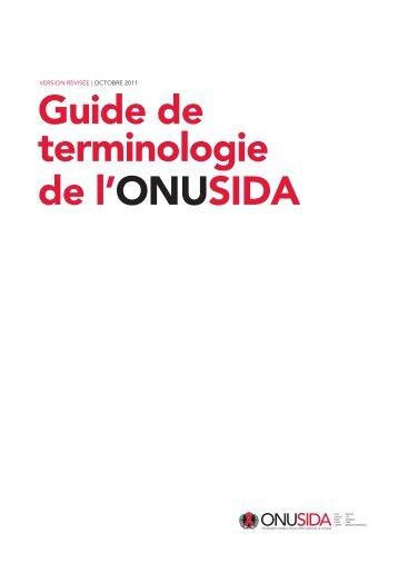 Guide de terminologie de l'ONUSIDA - unaids