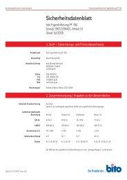 Sicherheitsdatenblatt PF 784 - Bito AG