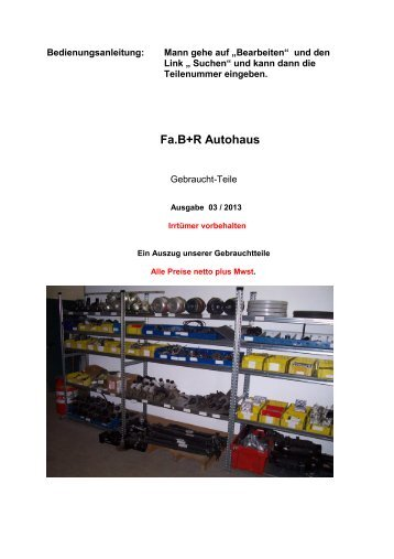 Fa.B+R Autohaus