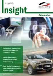 10. Newsletter 'Insight Automotive' (pdf 2,5 MB) - Berner & Mattner