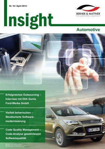 10. Newsletter 'Insight Automotive' (pdf 2,5 MB) - Berner & Mattner
