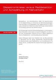 Gleisstromkreise versus Raddetektion und Achszählung ... - networx.at