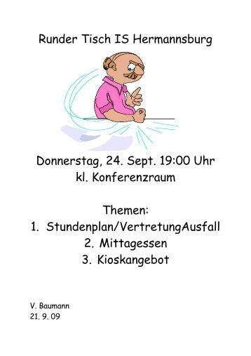Runder Tisch IS Hermannsburg Donnerstag, 24. Sept. 19:00 Uhr kl ...