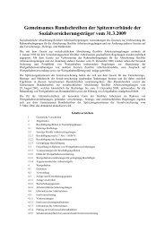 Gemeinsames Rundschreiben der Spitzenverbände der ...