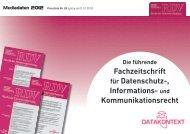 Fachzeitschrift für Datenschutz-, Informations - Verlagsgruppe ...
