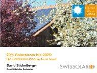 Die Zeit ist reif für mutige Schritte - Swissolar