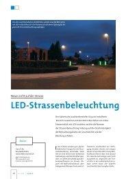 LED-Strassenbeleuchtung - ET Elektrotechnik