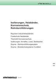 K10-Isolierungen, Heizbaender, Rohrdurchführungen - HK ...