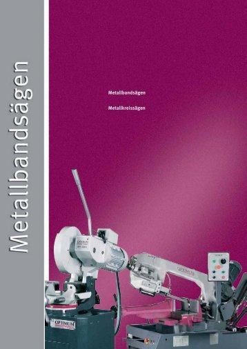 Metallbandsägen Metallkreissägen - HK Maschinentechnik