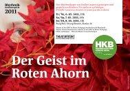 Der Geist im Roten Ahorn - Hochschule der Künste Bern