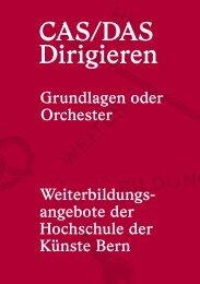 CAS/DAS Dirigieren - Hochschule der Künste Bern