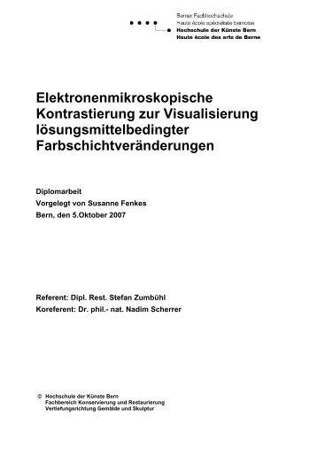 Elektronenmikroskopische Kontrastierung zur Visualisierung ...