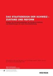 das staatsdesign der schweiz - Hochschule der Künste Bern ...