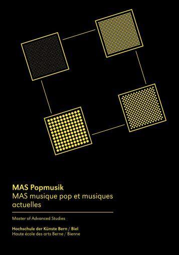 MAS Popmusik MAS musique pop et musiques actuelles