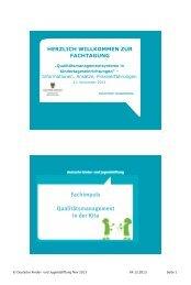 Was ist Qualitätsentwicklung? - Deutsche Kinder und Jugendstiftung