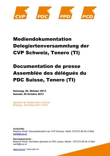Medienmappe - CVP Schweiz