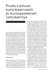 Puola-Liettuan kuninkaanvaalit ja eurooppalainen ... - Helsinki.fi