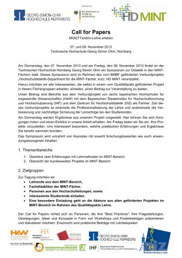 Call for Papers - DiZ
