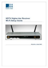 bbTV Set-Top-Box 7580P Wi-Fi Set Up Guide
