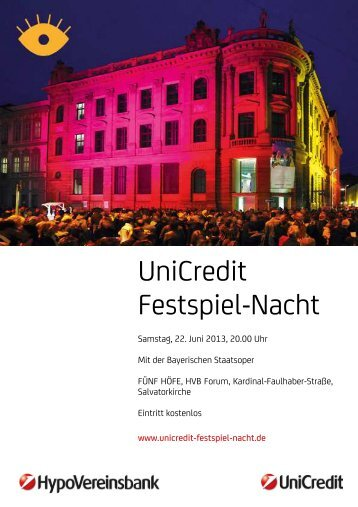 Programm nach Uhrzeiten - Bayerische Staatsoper
