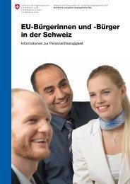 EU-Bürgerinnen und -Bürger in der Schweiz - Bundesamt für Migration