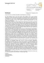 Brieftaube v. 12.09.2013 - Otto-von-Taube-Gymnasium
