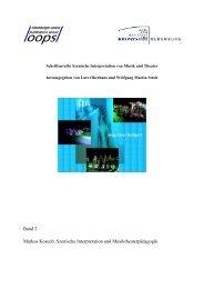 Szenische Interpretation und Musiktheaterpädagogik - oops ...