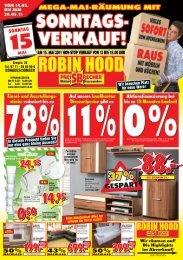 WIR BRAUCHEN PLATZ! - Robin Hood SB-Möbelmarkt in ...