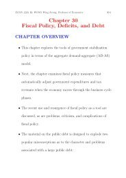 Chapter 30 Fiscal Policy, Deficits, and Debt