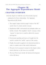 Chapter 28 The Aggregate Expenditures Model